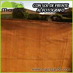 Malla ocultaci�n o sombreo marr�n 100% 3 X 50 m. (PORTES GRATIS)
