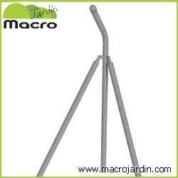 Poste esquina para simple torsion con espinos de 1m. de altura (1.45m + Codo)