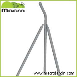 Poste esquina para simple torsion con espinos de 1,5m. de altura (1.85m + Codo)