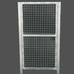 Puerta peatonal simple torsion 1X2m alto galvanizada