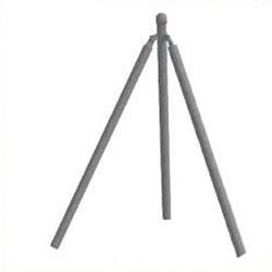 Poste esquina para simple torsion de 1,5m. (1.80m Alto)