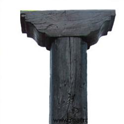 Columna de hormigon imitacion a madera serie Talavera