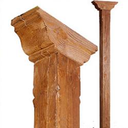 Columna de hormigon imitacion a madera serie Granada