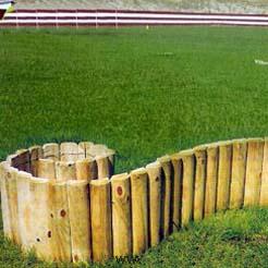 Borduras de madera 40X7cm. de 2.5 m.
