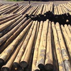 Poste de madera de pino tratado 2 m de altura de 60 80 mm - Precio listones de madera ...