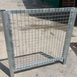 Puerta peatonal simple torsion 1.2X1m alto galvanizada