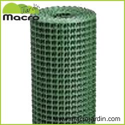 Malla plastica cuadrada 1m. X 25 m. de largo
