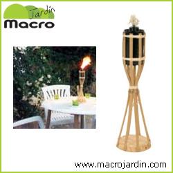 Antorcha de bambu de sobremesa 35 cm. de altura.
