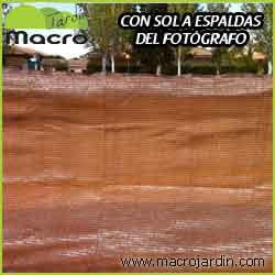 Malla ocultacion o sombreo marron 95% 2 X 100 m. (PORTES GRATIS)