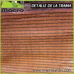 Malla ocultacion o sombreo marron 95% 1.5 X 50 m. (PORTES GRATIS)
