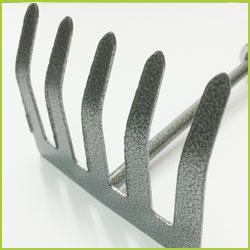 Set de herramientas para jardineria (pala rastrillo y azada)