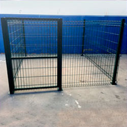 Jaulas boxes para perros de 6,25m. cuadrados 1 m. de altura