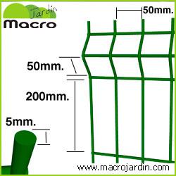 Panel verja electrosoldada plegada Hercules 1.5 m. de altura y 2.50 m. de largo.